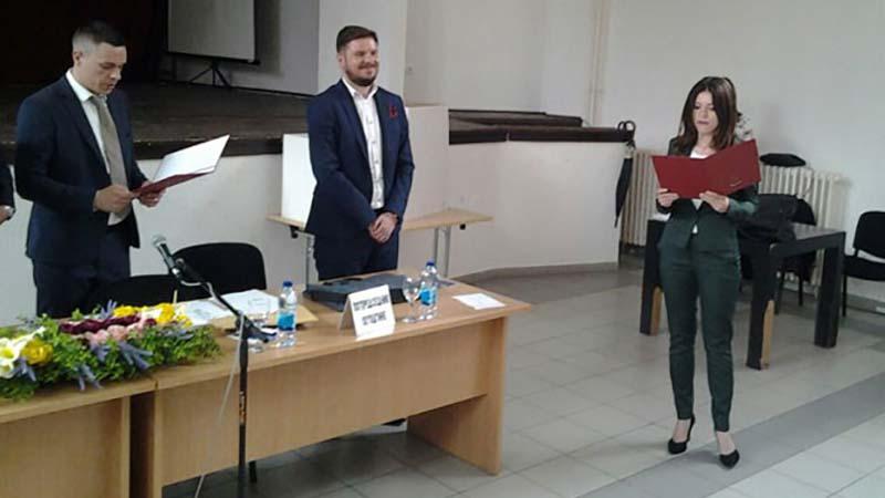 Photo of Sanja Vulić na čelu Skupštine grada Doboja