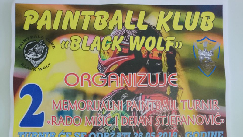 "Photo of Paintball Klub ""Black Wolf"" organizuje 2. Memorijalni Paintball turnir ""Rado Mišić i Dejan Stjepanović 2019"""