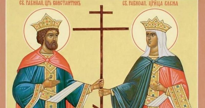 Photo of SPC: Danas Sveti car Konstantin i carica Jelena