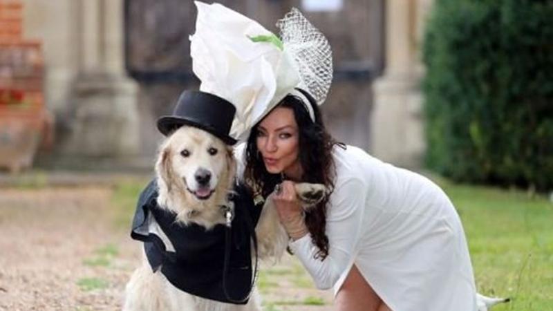 Photo of Bivša manekenka se udaje za psa, kumovi dva haskija