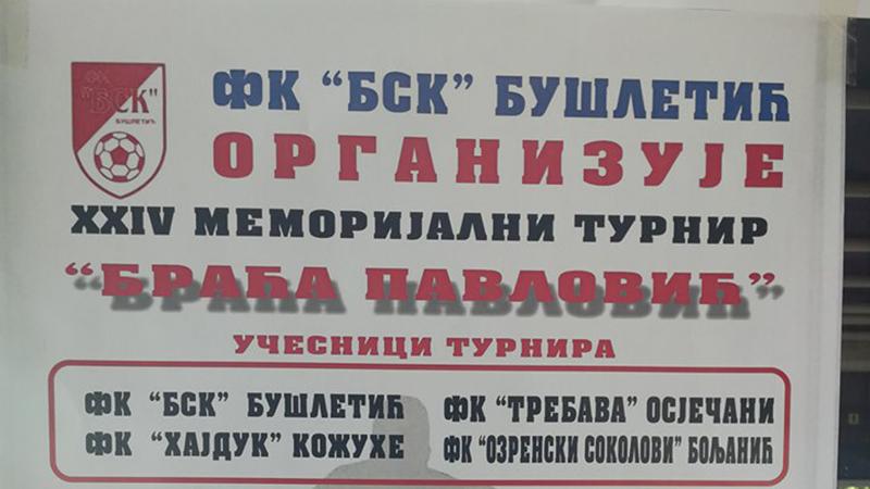 """Photo of DOBOJ: U petak počinje Memorijalni turnir """"Braća Pavlović"""" u Bušletiću"""