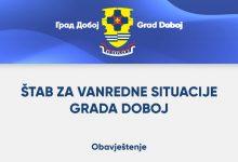 Photo of Štab za vanredne situacije Grada Doboj: Obavještenje!