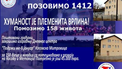 Photo of Aktivan humanitarni broj za izgradnju Dnevnog centra u Kosovskoj Mitrovici